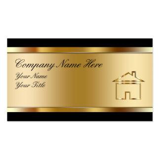 Cartões de visitas dos bens imobiliários