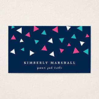 Cartões de visitas dos confetes do triângulo