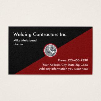 Cartões de visitas dos contratantes da soldadura