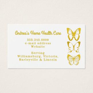 Cartões de visitas dos cuidados médicos Home das