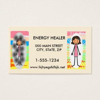 Cartões de visitas dos curandeiros da energia