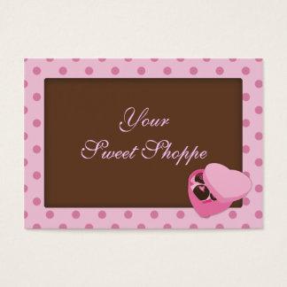 Cartões de visitas dos doces de chocolate