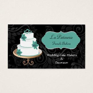 cartões de visitas dos fabricantes do bolo de