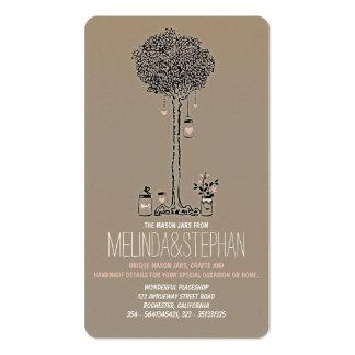 Cartões de visitas dos frascos de pedreiro