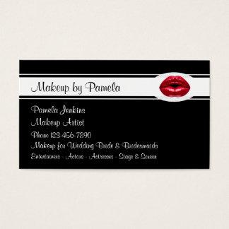 Cartões de visitas dos maquilhadores