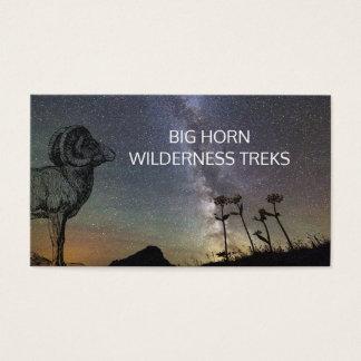 Cartões de visitas dos passeios na montanha da