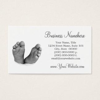Cartões de visitas dos pés do bebê