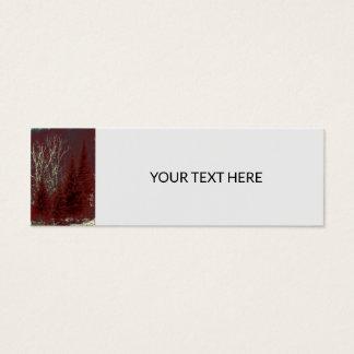 Cartões de visitas dos Tag das árvores vermelhas e