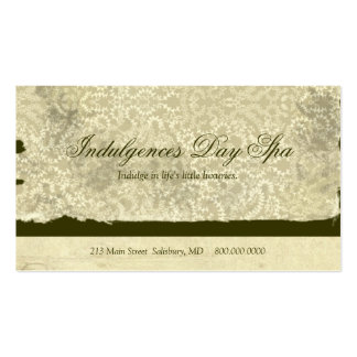 Cartões de visitas dos termas do dia