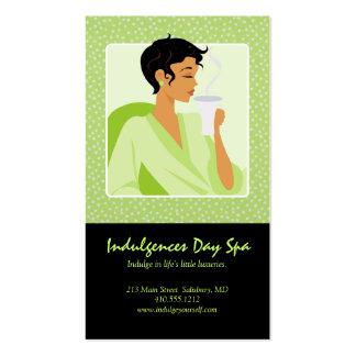Cartões de visitas dos termas do dia/cartões da no