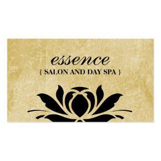 Cartões de visitas dos termas do salão de beleza e