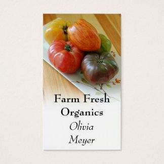 Cartões de visitas dos tomates da herança