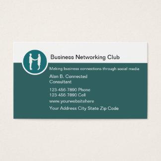 Cartões de visitas dos trabalhos em rede do
