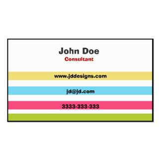Cartões de visitas elegantes da cor