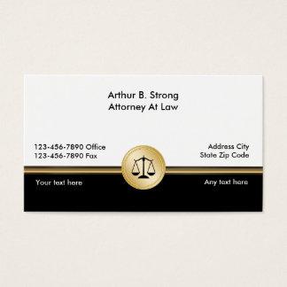 Cartões de visitas elegantes da empresa de
