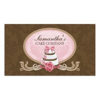 Cartões de visitas elegantes da padaria do bolo