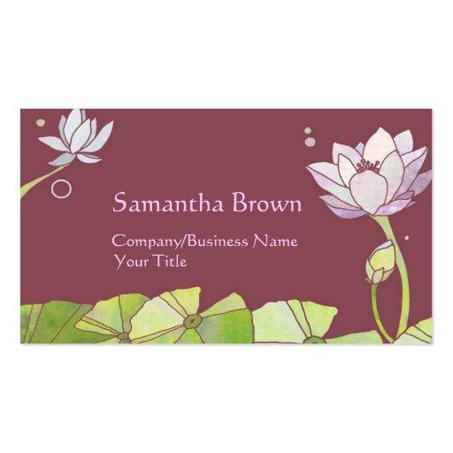 Cartões de visitas elegantes das flores de Lotus