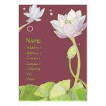 Cartões de visitas elegantes de Lotus