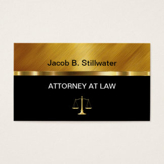Cartões de visitas elegantes do advogado