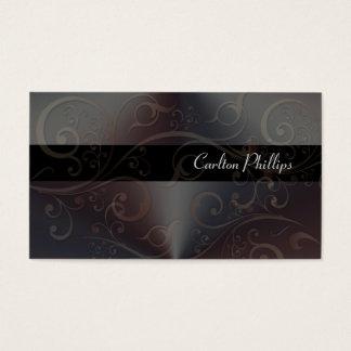 Cartões de visitas elegantes do consultor de