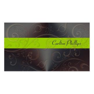 Cartões de visitas elegantes do consultor de marke