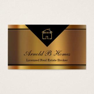 Cartões de visitas elegantes do corretor de