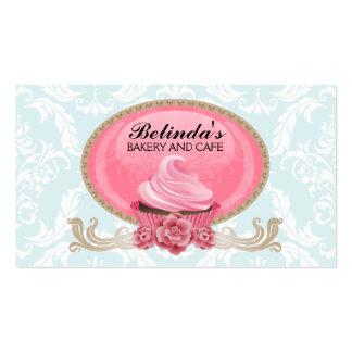 Cartões de visitas elegantes do costume da padaria