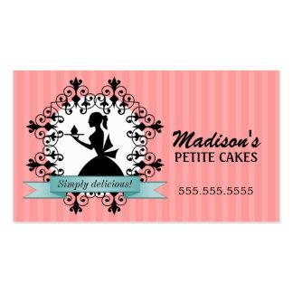 Cartões de visitas elegantes do cupcake