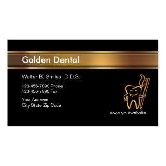 Cartões de visitas elegantes do dentista