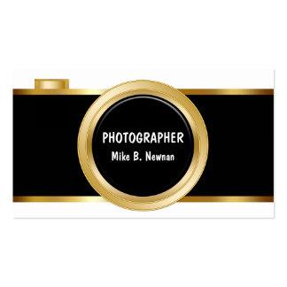 Cartões de visitas elegantes do fotógrafo