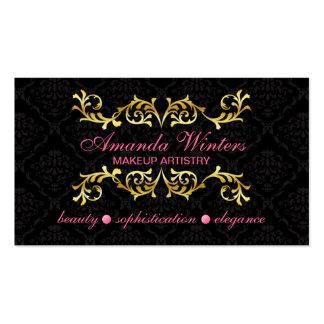Cartões de visitas elegantes do maquilhador