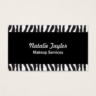 Cartões de visitas elegantes do maquilhador do