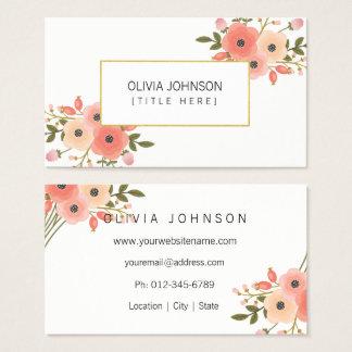 Cartões de visitas elegantes do profissional das
