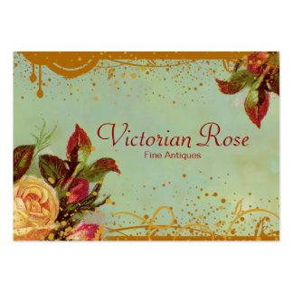Cartões de visitas elegantes do rosa do Victorian