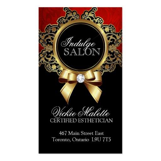 Cartões de visitas elegantes do salão de beleza e
