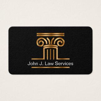 Cartões de visitas elegantes do símbolo da lei do