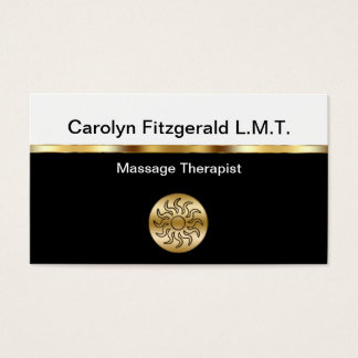 Cartões de visitas elegantes do terapeuta da