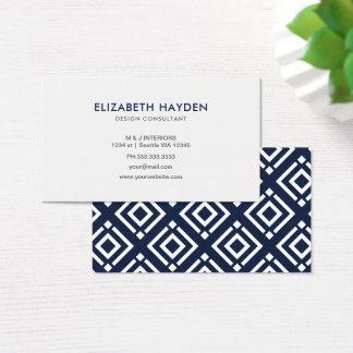 Cartões de visitas elegantes dos azuis marinhos