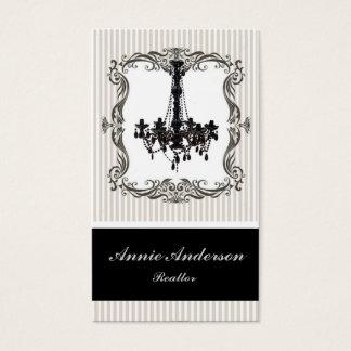Cartões de visitas elegantes dos bens imobiliários