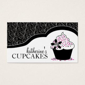 Cartões de visitas elegantes e modernos do cupcake