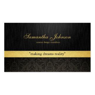 Cartões de visitas elegantes profissionais do dama