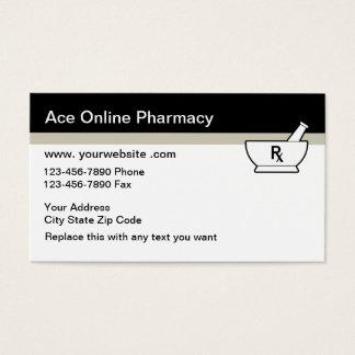 Cartões de visitas em linha da farmácia