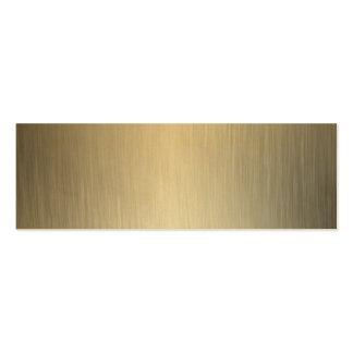 Cartões de visitas escovados do metal do ouro