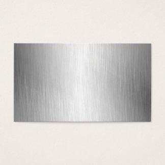 Cartões de visitas escovados do olhar do metal