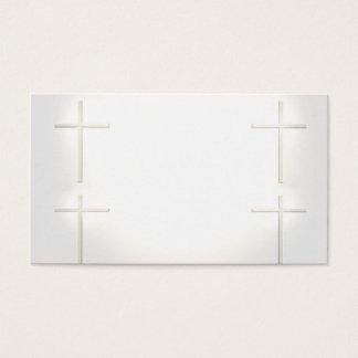 Cartões de visitas espirituais da cruz do