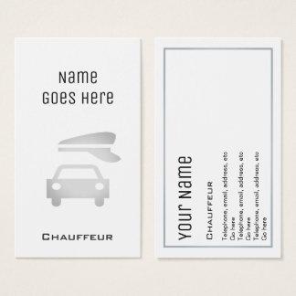 """Cartões de visitas """"essenciais"""" do Chauffeur"""