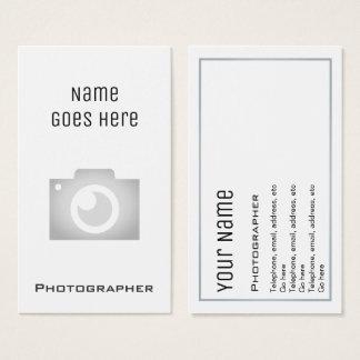 """Cartões de visitas """"essenciais"""" do fotógrafo"""