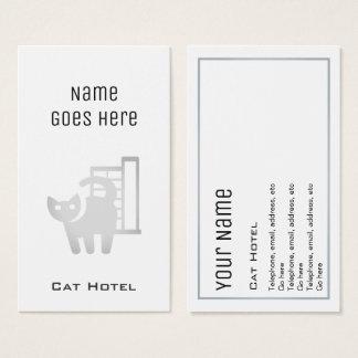 """Cartões de visitas """"essenciais"""" do hotel do gato"""