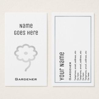 """Cartões de visitas """"essenciais"""" do jardineiro"""