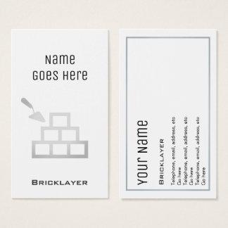 """Cartões de visitas """"essenciais"""" do pedreiro"""